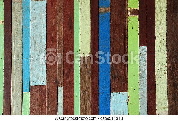 Old wood painted - csp9511313