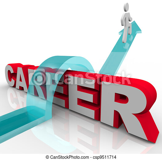 Person Better Job Career Word Rising Promotion Opportunity - csp9511714