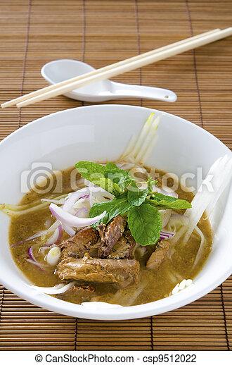malaysian famous food asam laksa - csp9512022