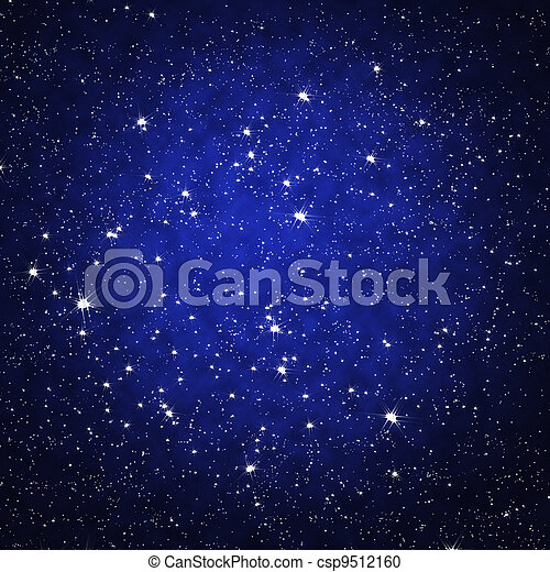 Star on sky at night - csp9512160