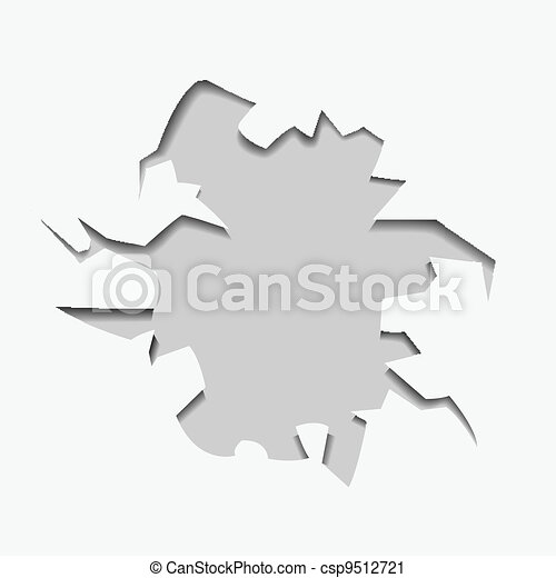 abstract hole with text - csp9512721