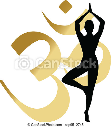 abstract yoga background - csp9512745