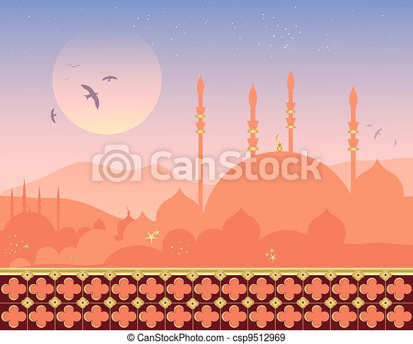 mosque at sunset - csp9512969