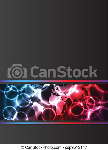 Abstract company brochure with plasma effect - csp9513147