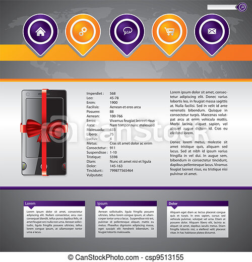 Gadget selling website template design - csp9513155