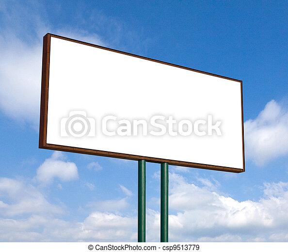 Blank billboard  - csp9513779