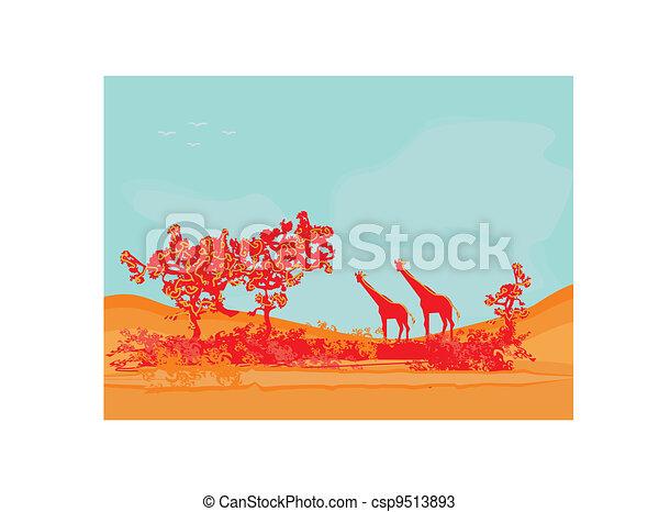 African fauna and flora - csp9513893