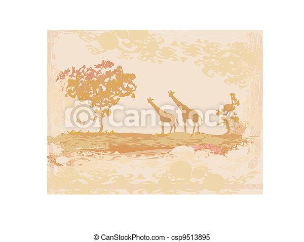 African fauna and flora  - csp9513895