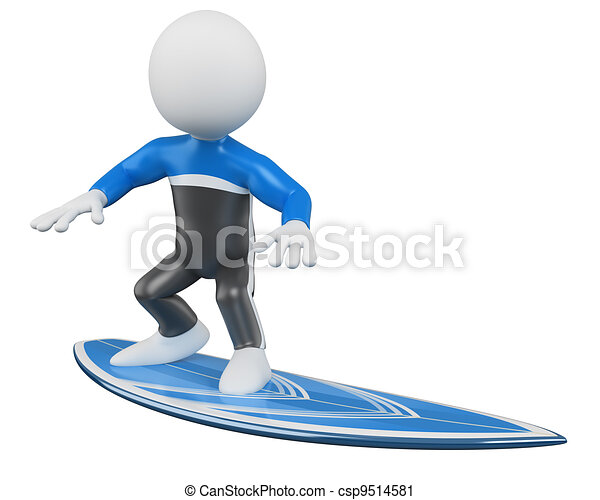 3D Surfer - Surfing - csp9514581