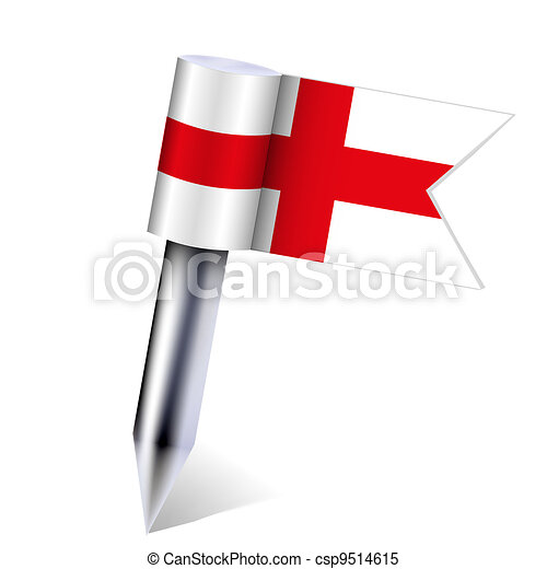 Vector England country flag isolated on white. Eps10 - csp9514615