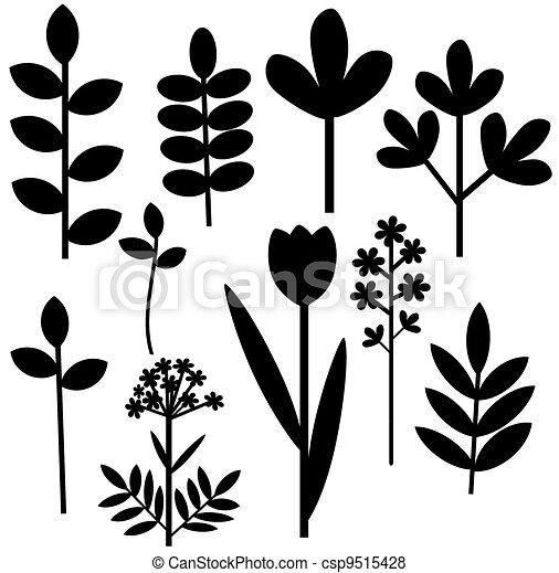 Herbal abstract set - csp9515428