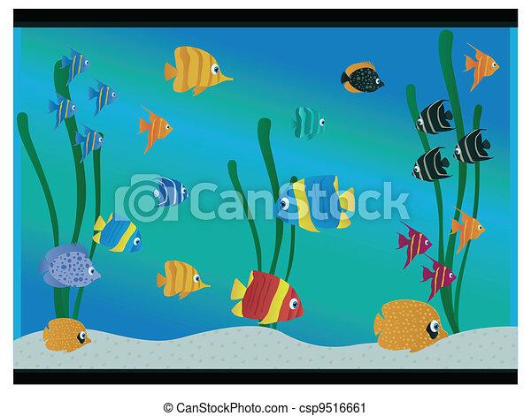Aquarium Illustrations and Clip Art. 18,797 Aquarium royalty free ...