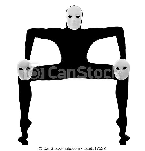 performer mime with mask - csp9517532