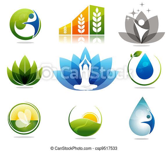 Helath care symbols - csp9517533