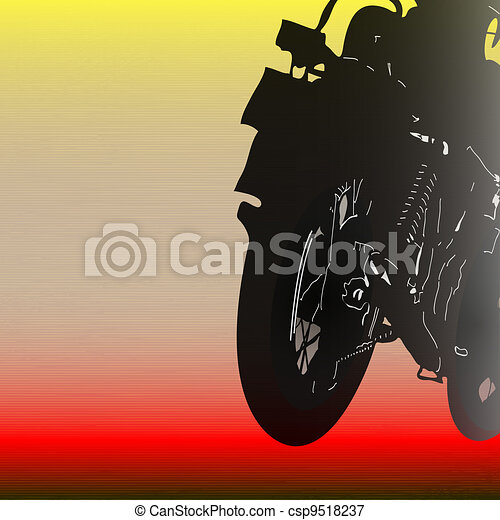 Biker Background - csp9518237