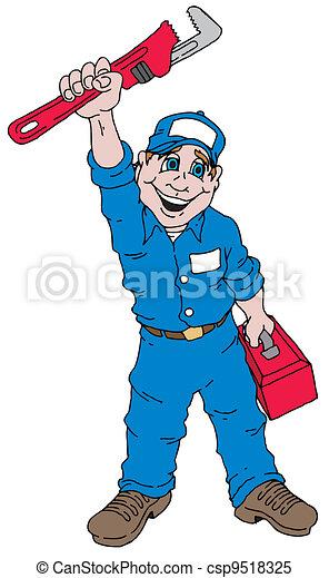 Plumber Guy - csp9518325