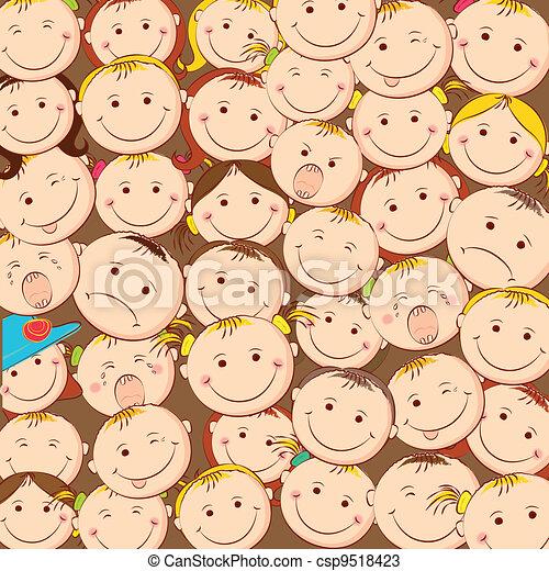 Kids Looking Upward - csp9518423