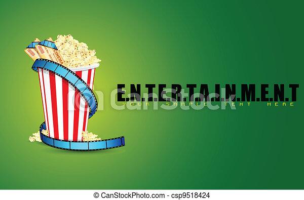 Entertainment Background - csp9518424