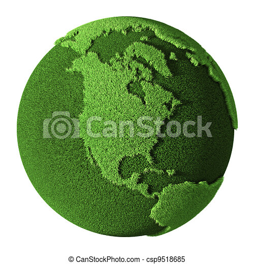 Grass Globe - North America - csp9518685