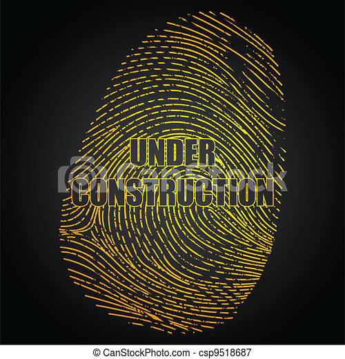 Under Construction Finger Print - csp9518687