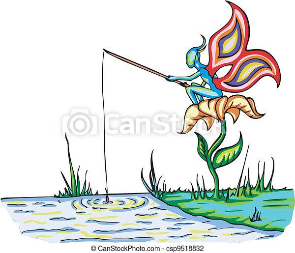 Fairy elf fishing - csp9518832