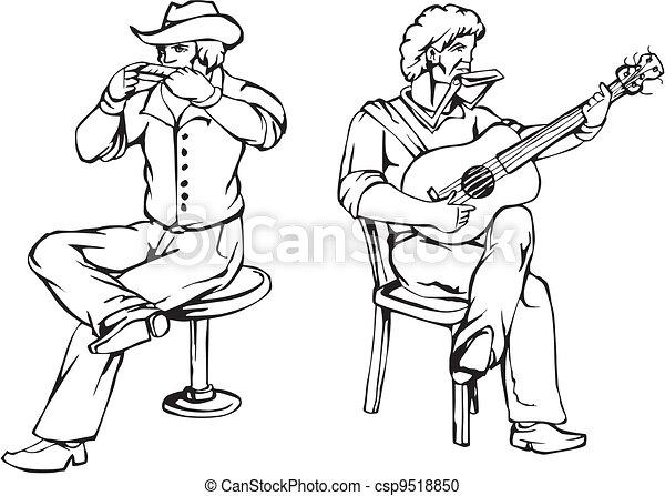 Folk rock - csp9518850