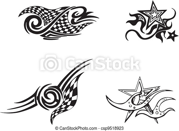 Racing and Star Designs - csp9518923