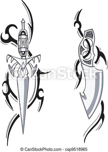 Tribal Blade Designs - csp9518965