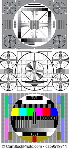 tv test pattern - csp9519711