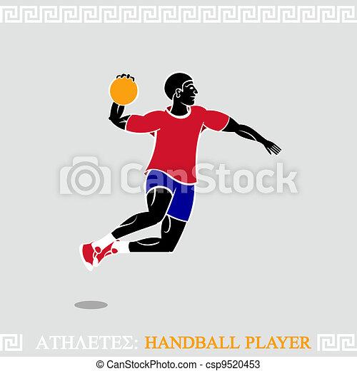 Athlete Handball player - csp9520453
