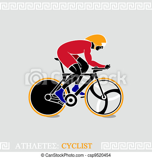 Athlete Cyclist - csp9520454