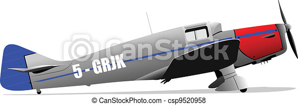 Old military combat. Plane. Air fo - csp9520958