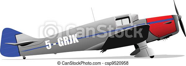 Old military combat. Plane. Air fo - csp9520958