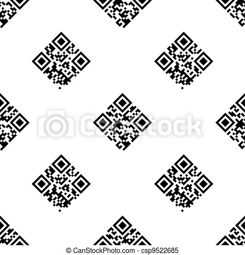 QR Code seamless pattern - csp9522685