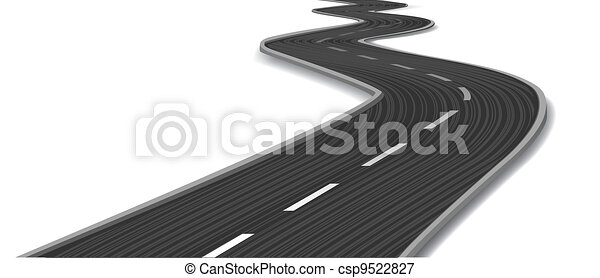 Curved road. Vector - csp9522827
