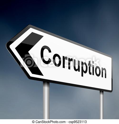 Corruption concept. - csp9523113