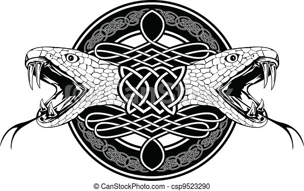 snake and Celtic patterns - csp9523290