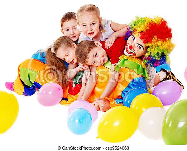 Child birthday party . - csp9524063
