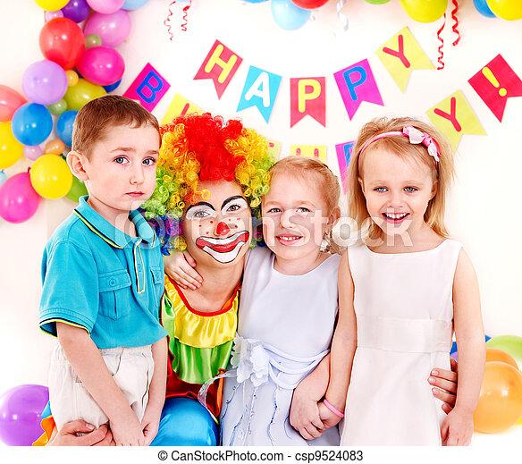 Child birthday party .