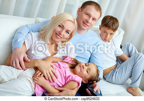 Family at leisure - csp9524633