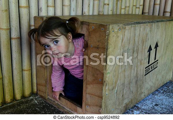 Childhood Games - Hide and Seek - csp9524892