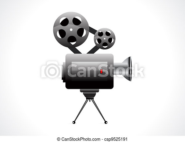 abstract video camera icon - csp9525191