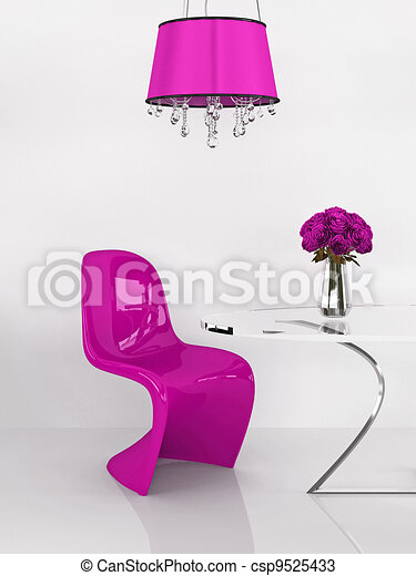 Dessins de rose furniture loft moderne re interior for Chaise 3d dessin
