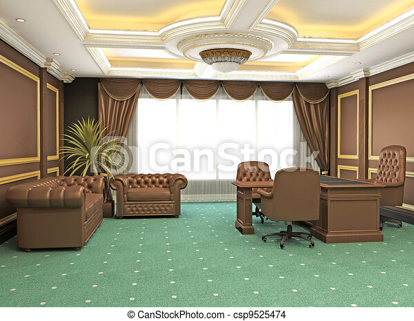 Classic modern Office interior apartment space - csp9525474