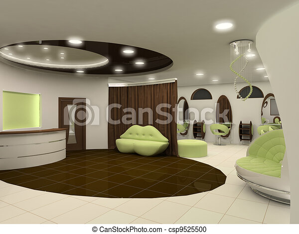 Outlook of luxury beauty salon interior space apartment - csp9525500