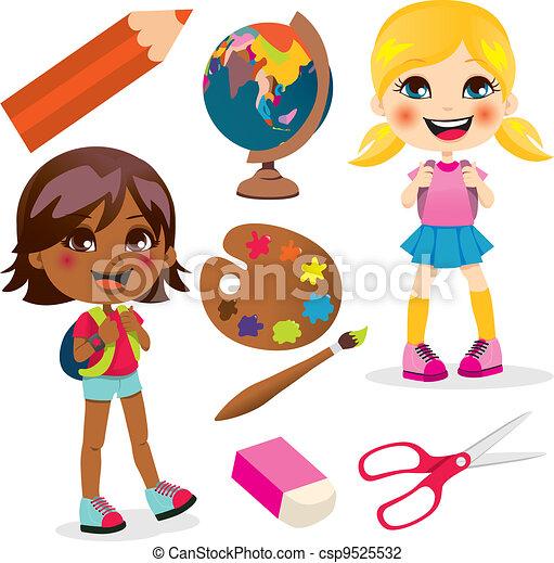 School Girls - csp9525532
