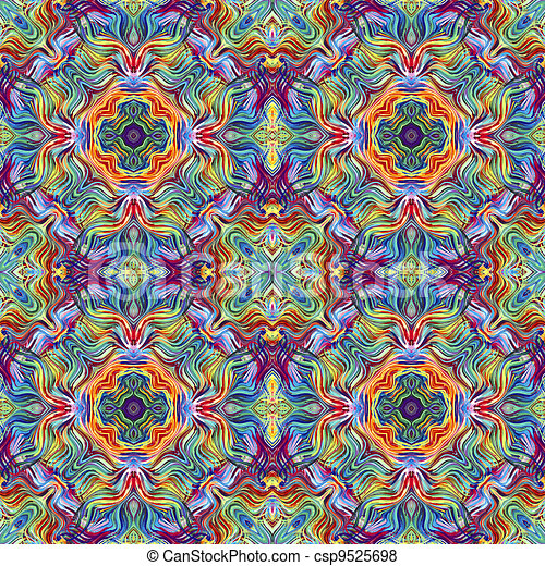 Modern artwork pattern - csp9525698