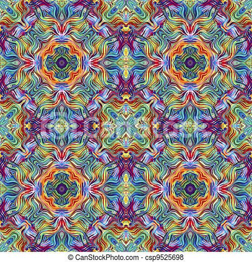 Modern artwork pattern - csp9525698