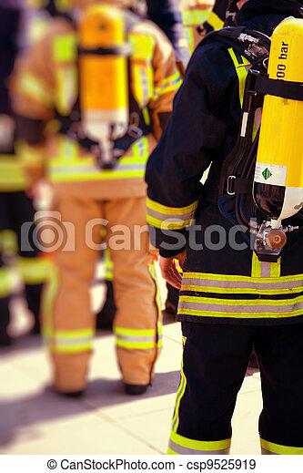 Firefighters prepared to work - csp9525919