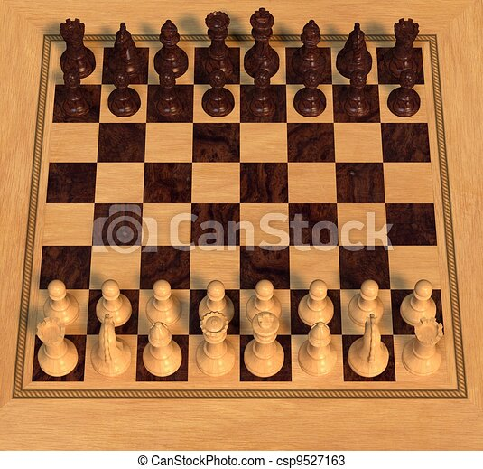 Polished Wood Chess Set - csp9527163
